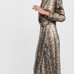 SNAKESKIN PRINTED SHIRT DRESS